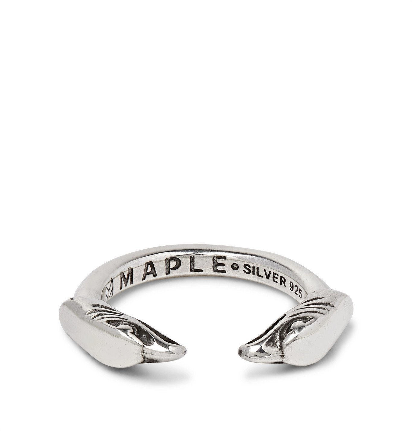 Photo: MAPLE - Eagle Head Engraved Sterling Silver Ring - Silver
