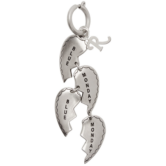 Photo: Raf Simons Silver Broken Hearts Charm Keychain