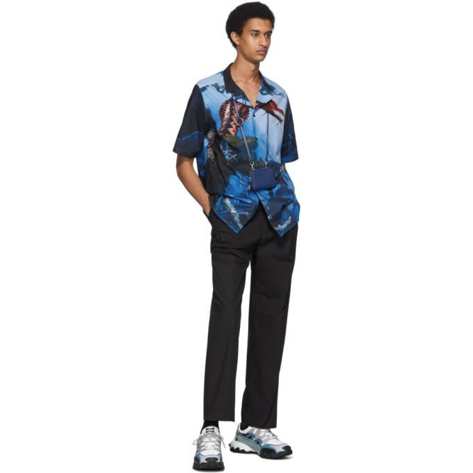 Valentino Multicolor Dragon Garden Short Sleeve Shirt