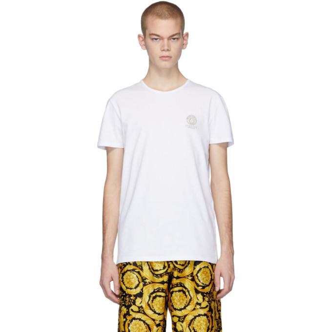 Photo: Versace Underwear White Logo T-Shirt