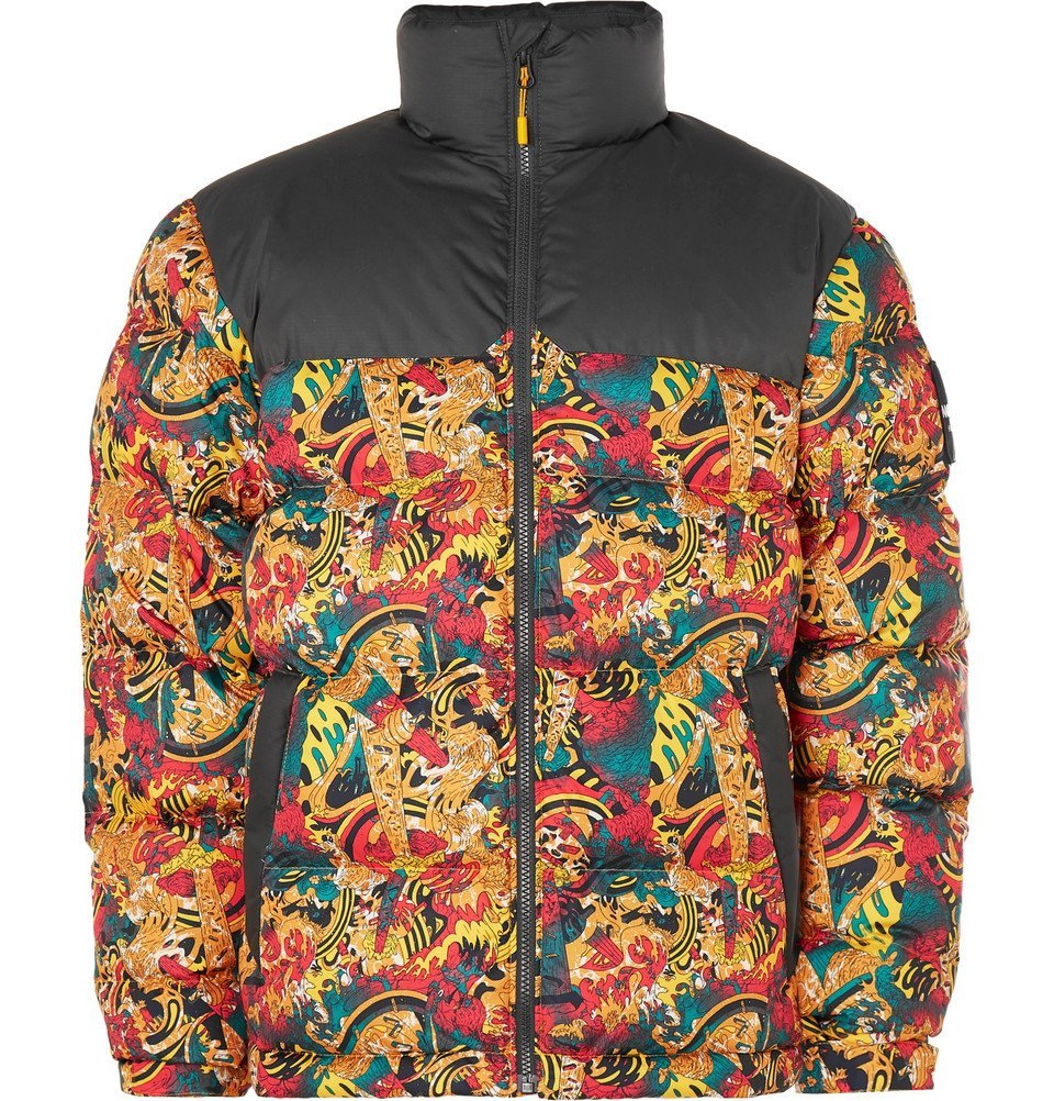 Photo: The North Face - 1992 Nuptse Printed Quilted Shell Down Jacket - Yellow