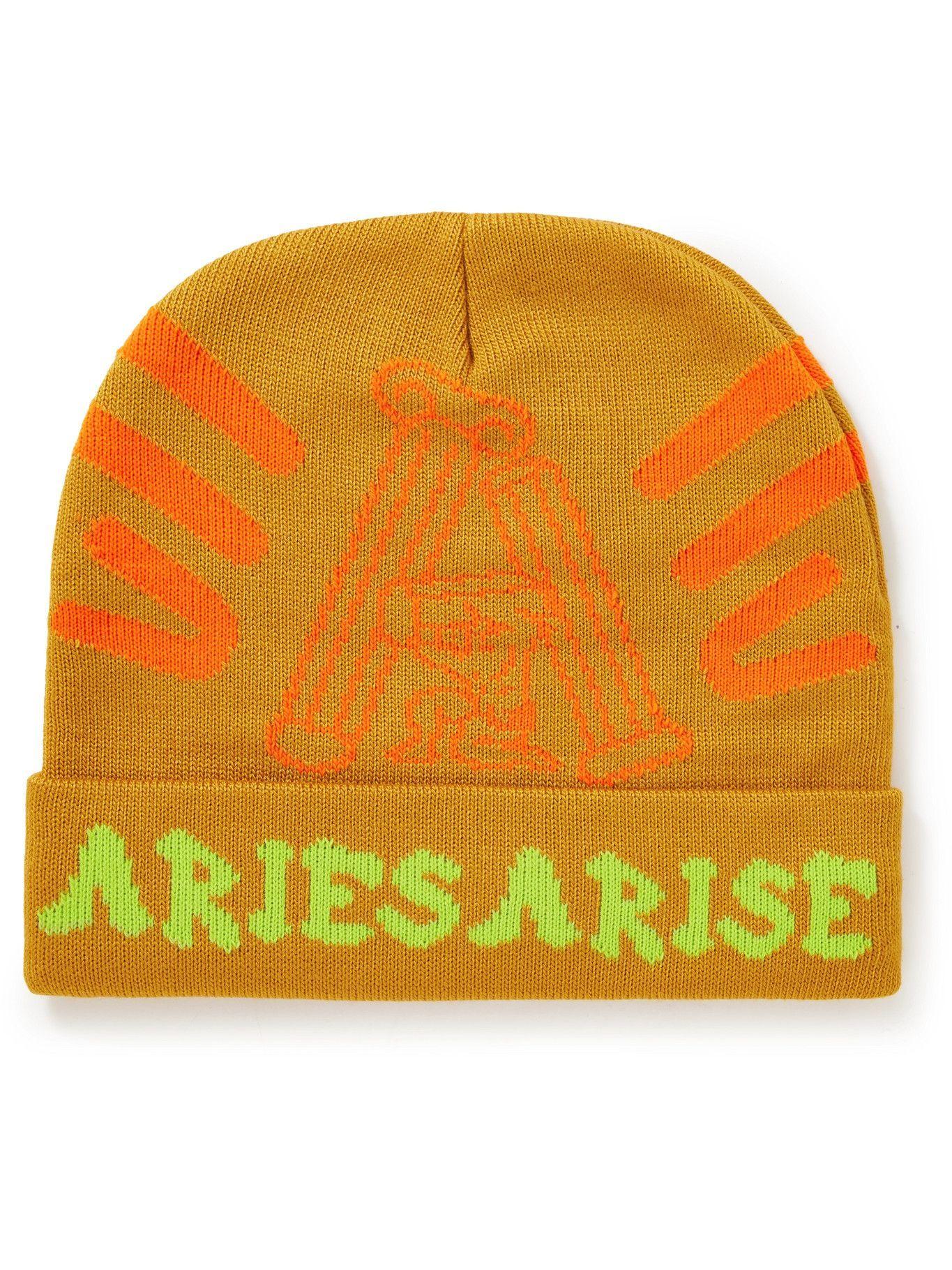 Photo: Aries - Column Jacquard-Knit Beanie