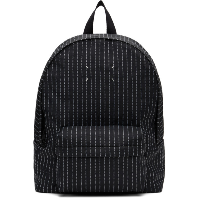 Photo: Maison Margiela Black Logo Stripe Classic Backpack