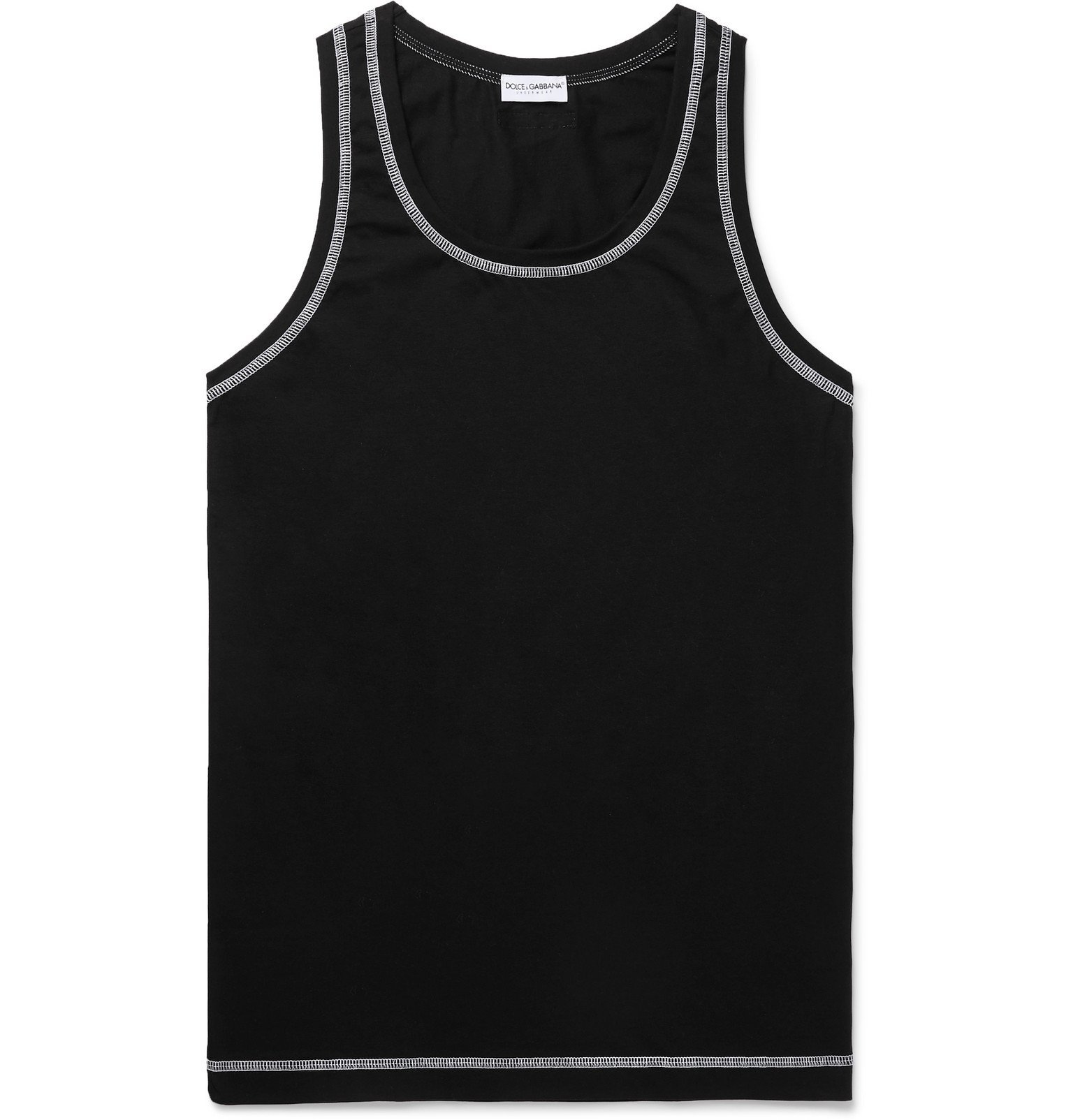 Photo: Dolce & Gabbana - Stretch Cotton-Jersey Tank Top - Blue