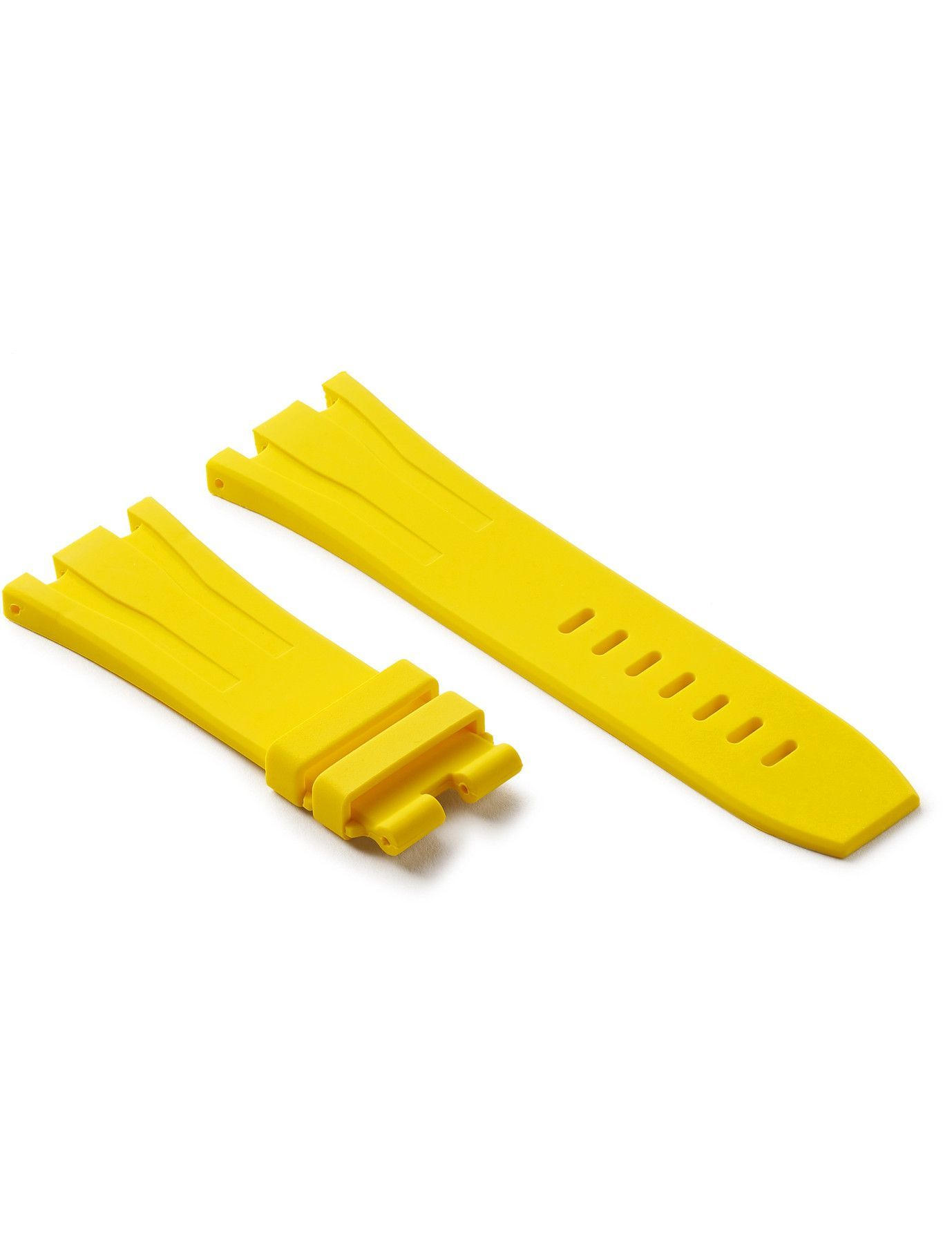 Photo: Horus Watch Straps - 20mm Rubber Integrated Watch Strap - Yellow