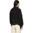 Sacai Black Knit Combo Bomber Jacket
