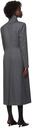 Kathryn Bowen Grey Split Front Tailored Coat
