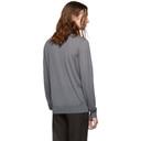 Giorgio Armani Grey Solid Long Sleeve Polo