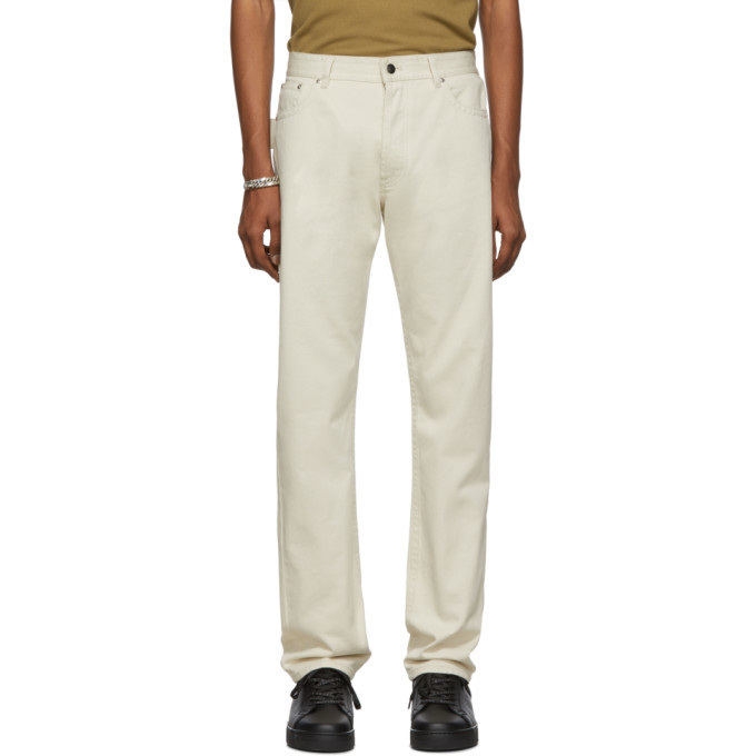 Photo: Bottega Veneta Off-White Workwear Jeans