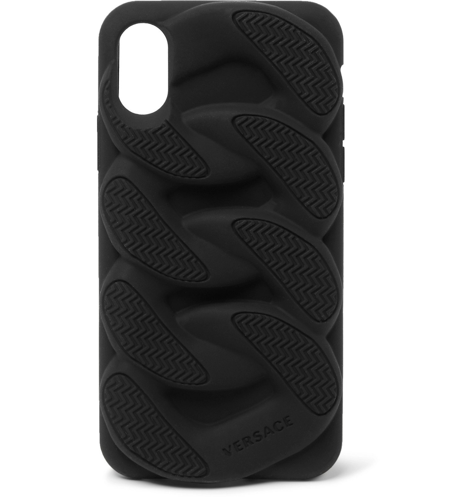 Versace - Chain Reaction Silicone iPhone X Case - Black