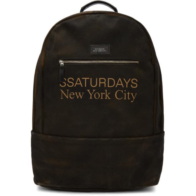 Photo: Saturdays NYC SSENSE Exclusive Brown Hannes Backpack
