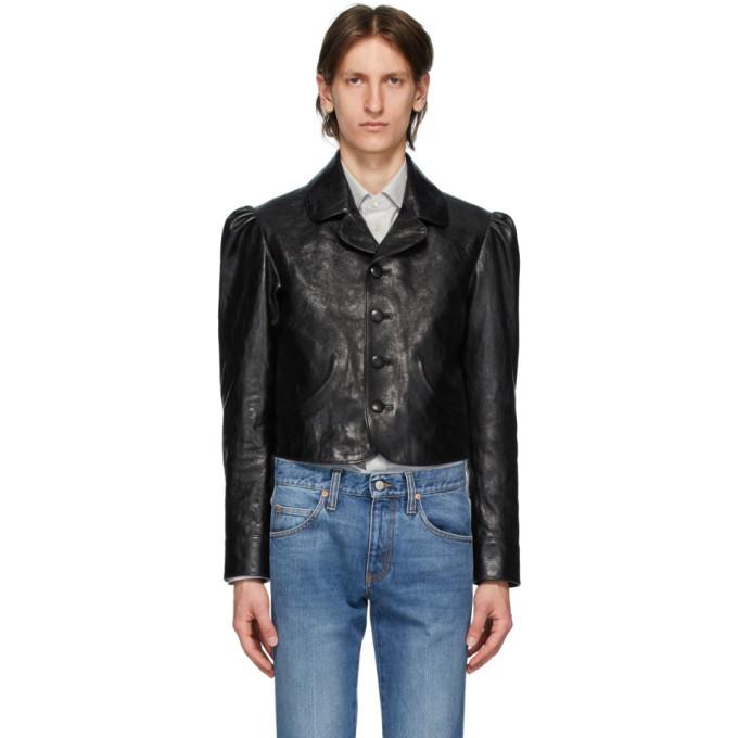 Photo: Gucci Black Shiny Leather Jacket