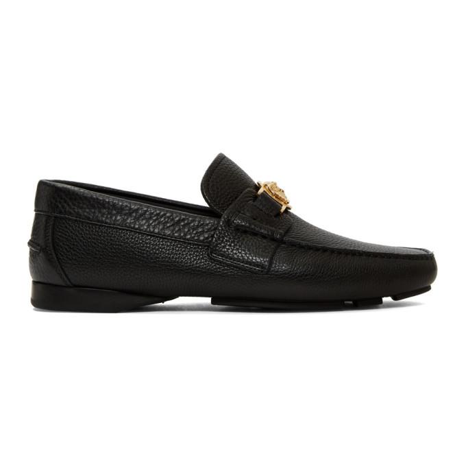 Photo: Versace Black Medusa Loafers
