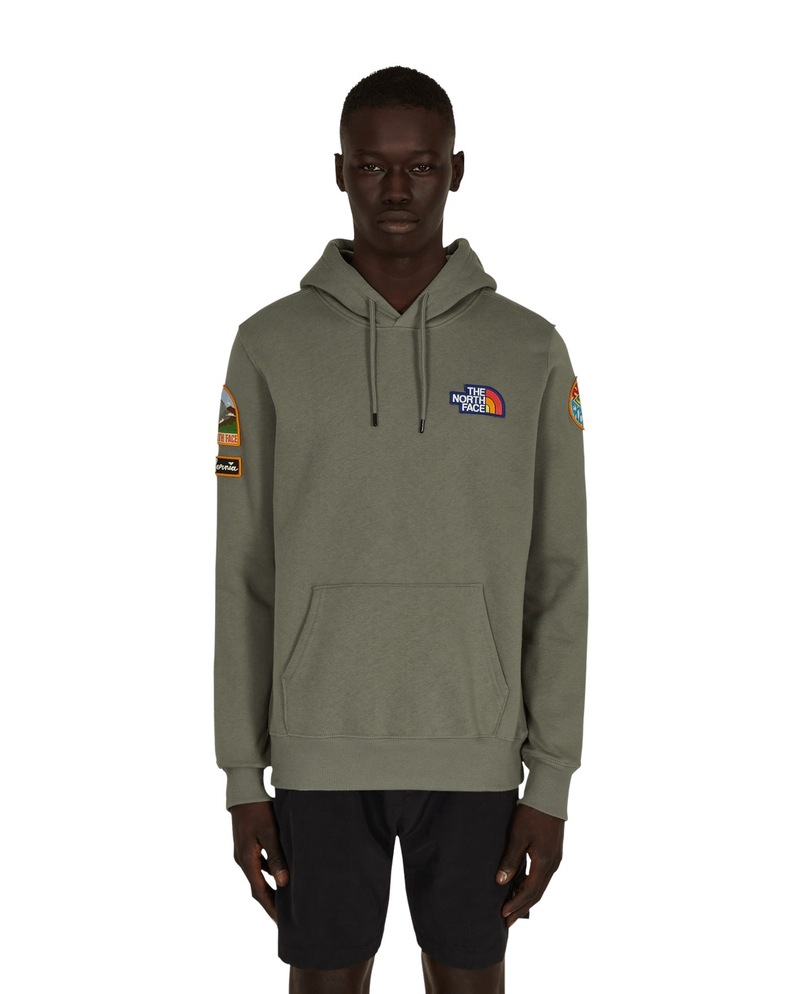 Photo: The North Face Patches Hooded Sweatshirt Agave Green