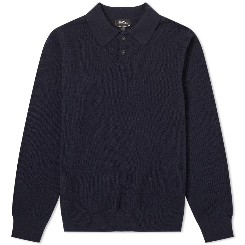 Photo: A.P.C. Long Sleeve Guitry Knitted Polo