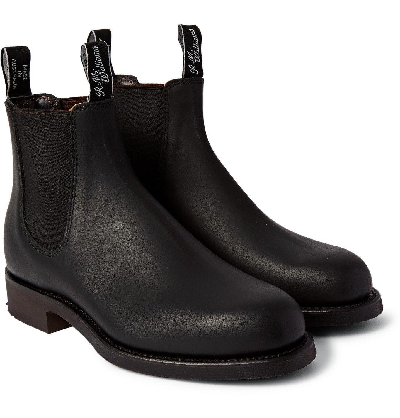 Photo: R.M.Williams - Gardener Whole-Cut Leather Chelsea Boots - Black
