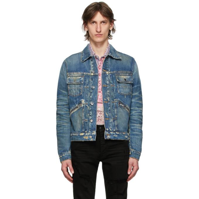 Photo: Amiri Blue Denim Wrangler Jacket