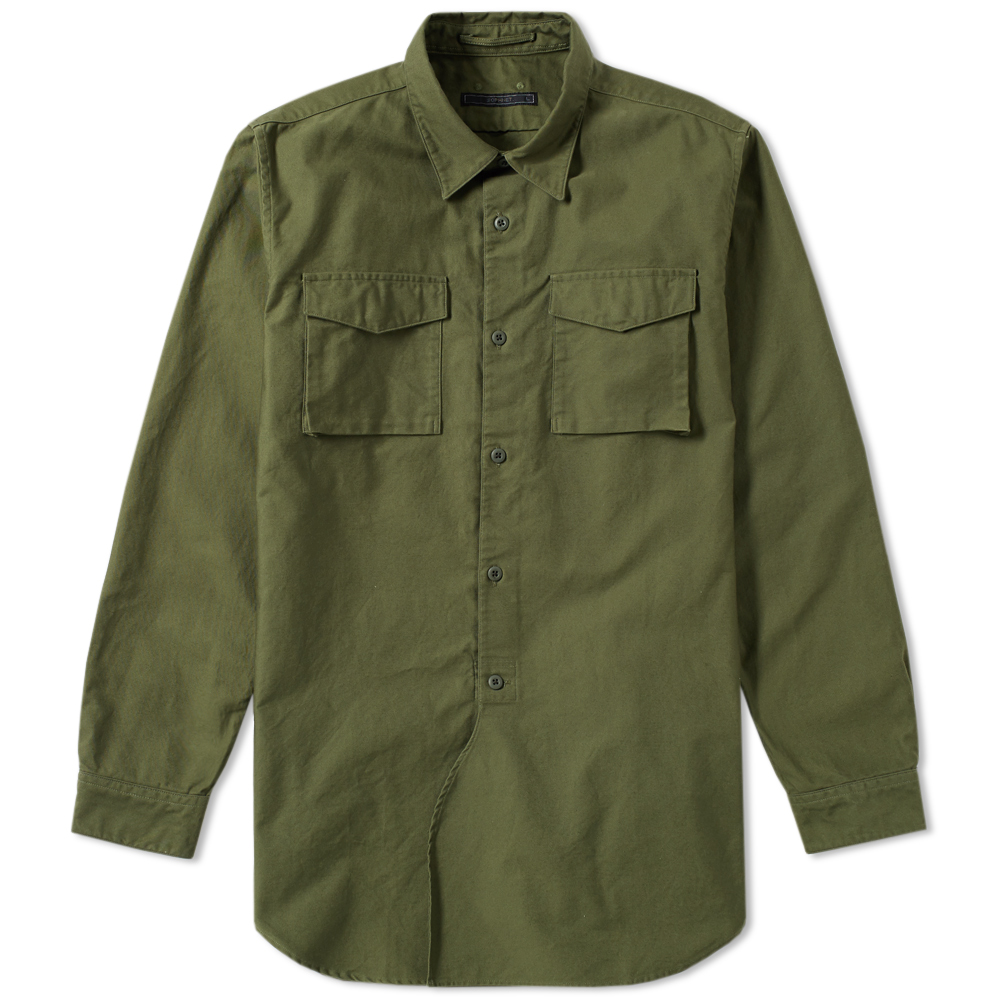 Photo: SOPHNET. Military Pocket Long Shirt