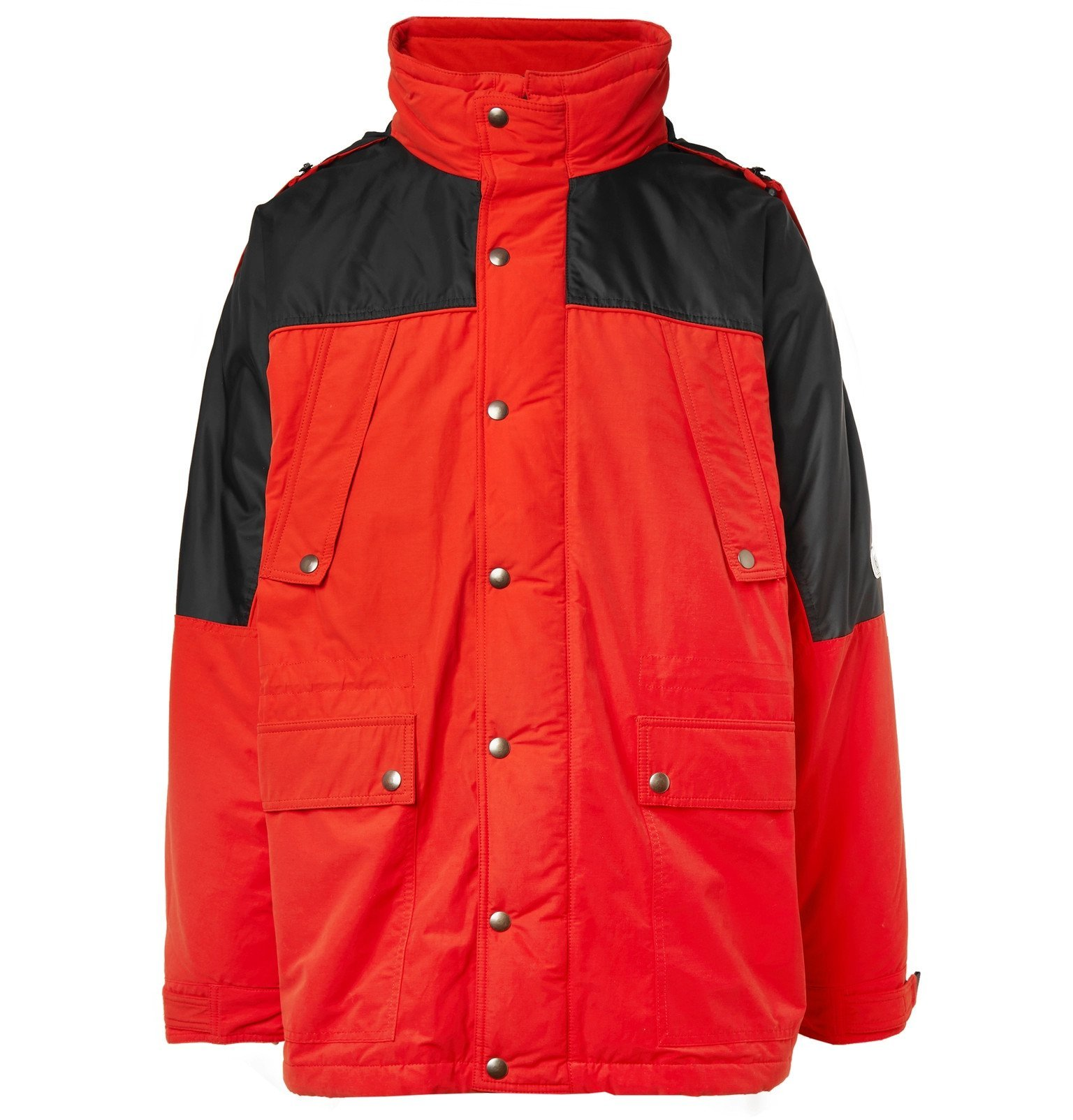 Photo: Vetements - Incognito Padded Cotton-Blend Shell Parka - Red