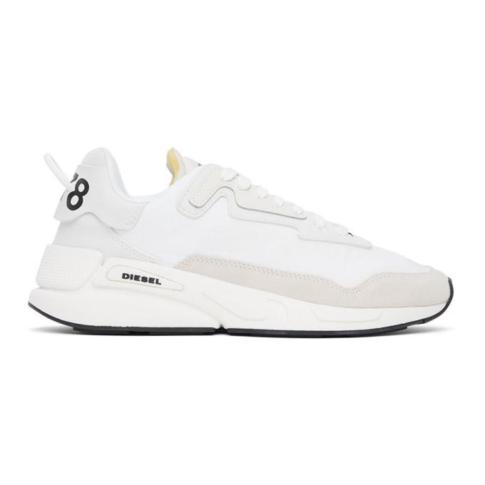 Photo: Diesel White S-Serendipity Low Sneakers