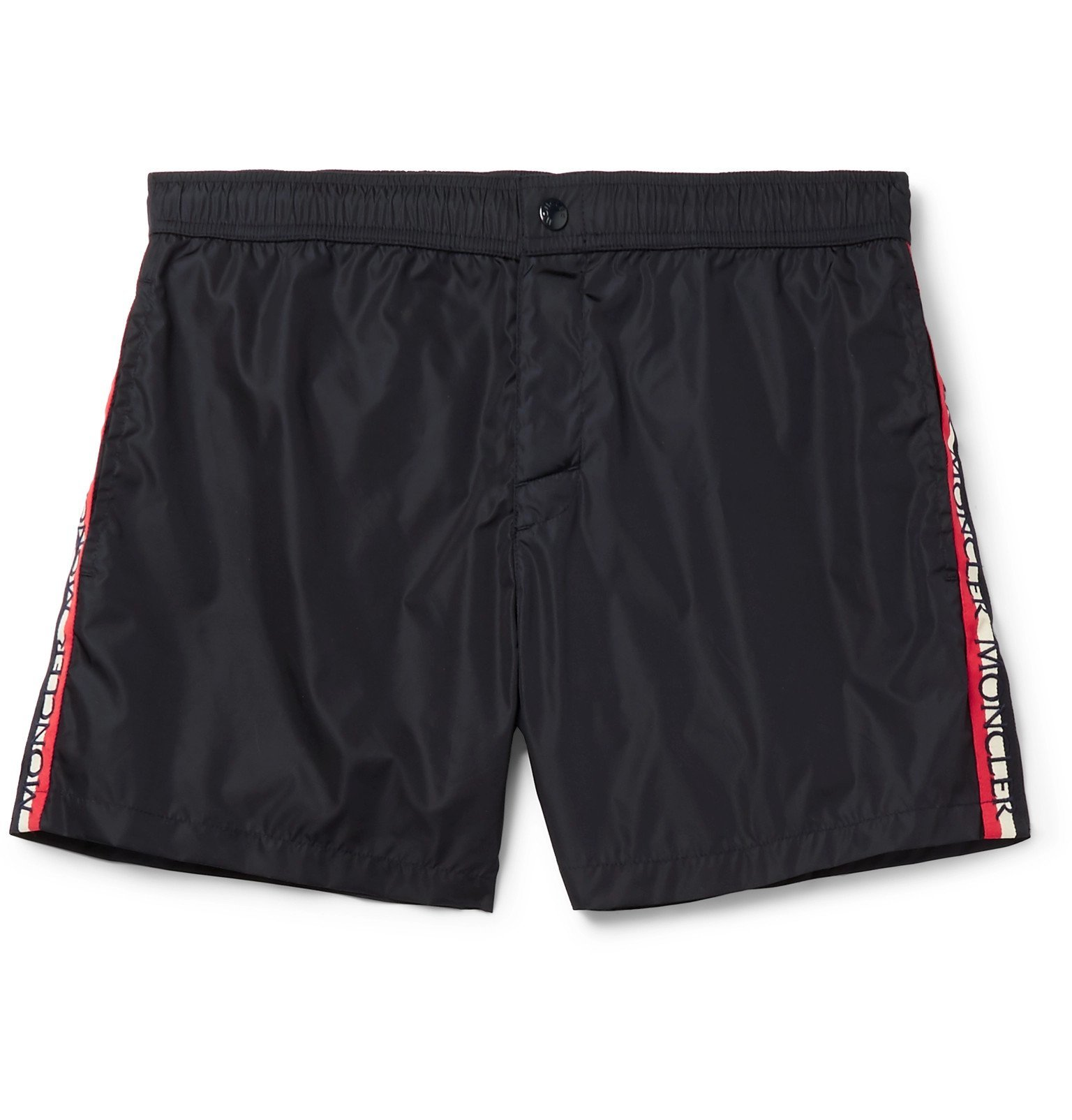 Photo: Moncler - Grosgrain-Trimmed Swim Shorts - Blue