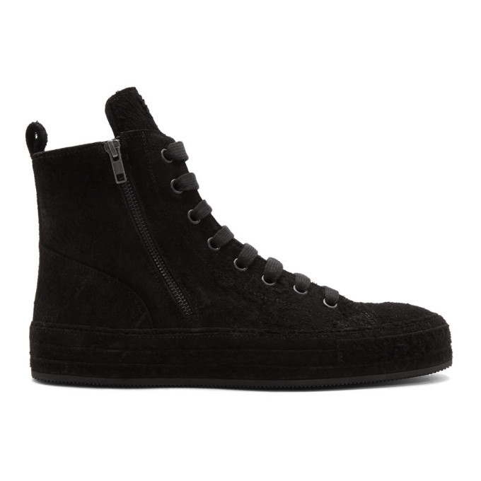 Photo: Ann Demeulemeester Black Suede High-Top Sneakers