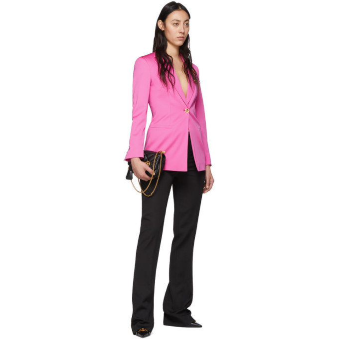 Versace Pink Safety Pin Blazer
