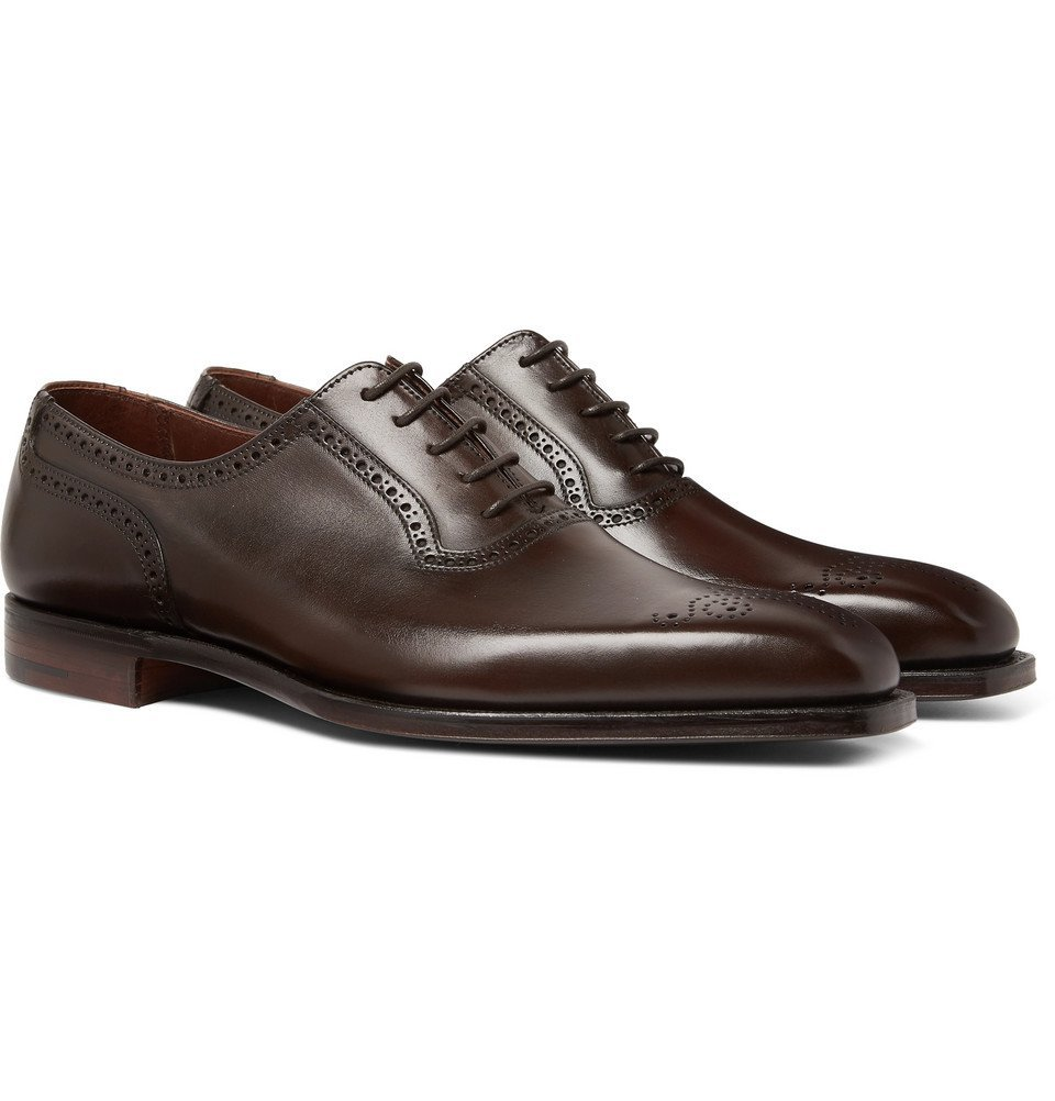 Photo: George Cleverley - Anthony Leather Oxford Brogues - Dark brown