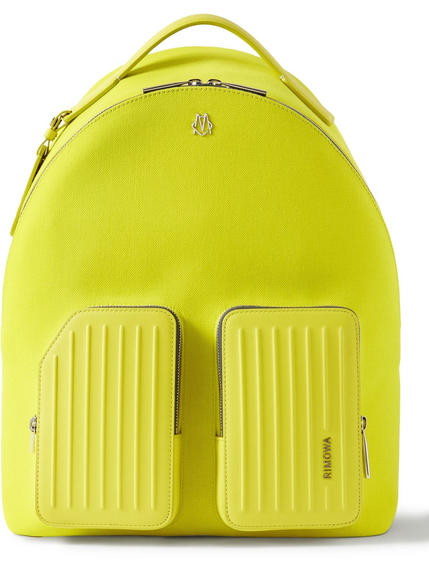 Photo: RIMOWA - Leather-Trimmed Canvas Backpack