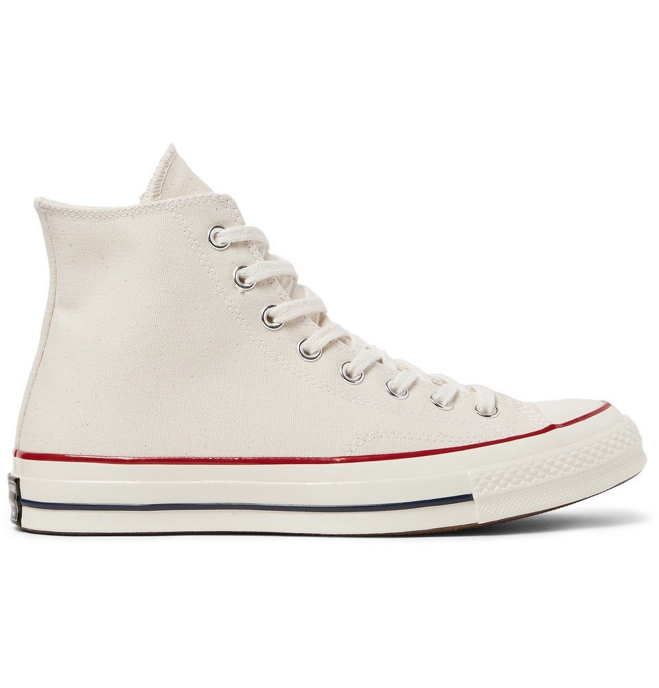 Photo: Converse - 1970s Chuck Taylor All Star Canvas High-Top Sneakers - Cream