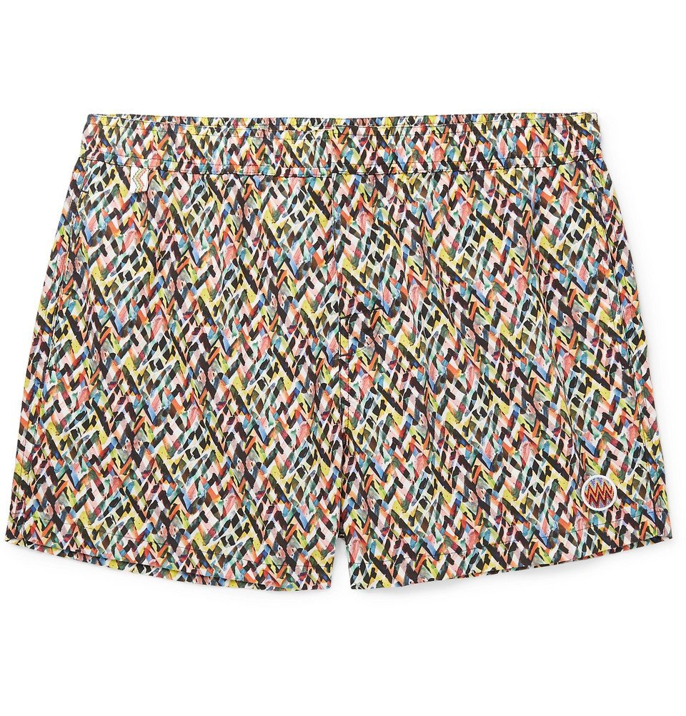 Photo: Missoni - Mid-Length Printed Swim Shorts - Yellow