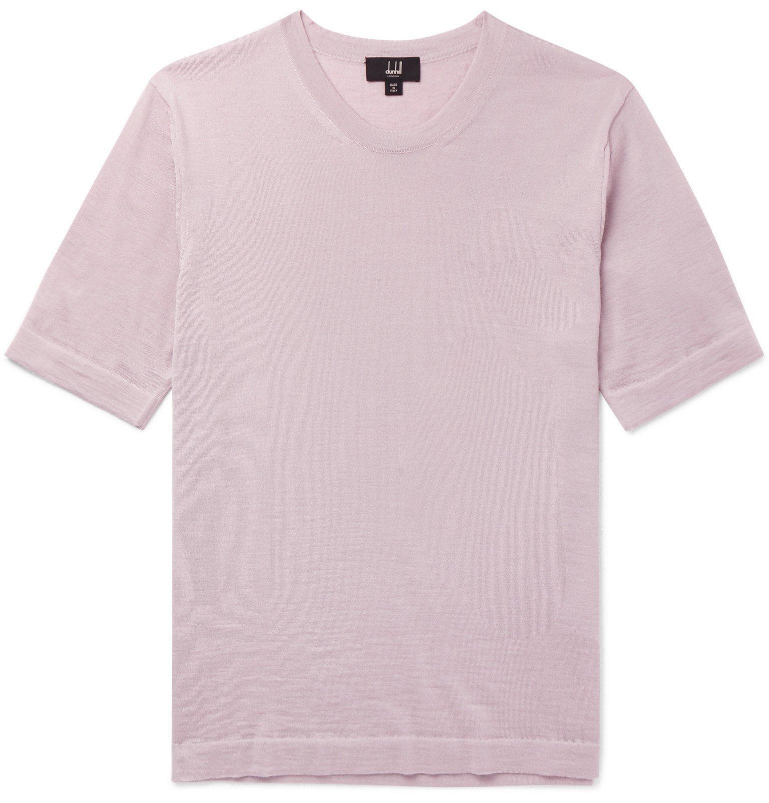 Dunhill - Cashmere T-Shirt - Purple
