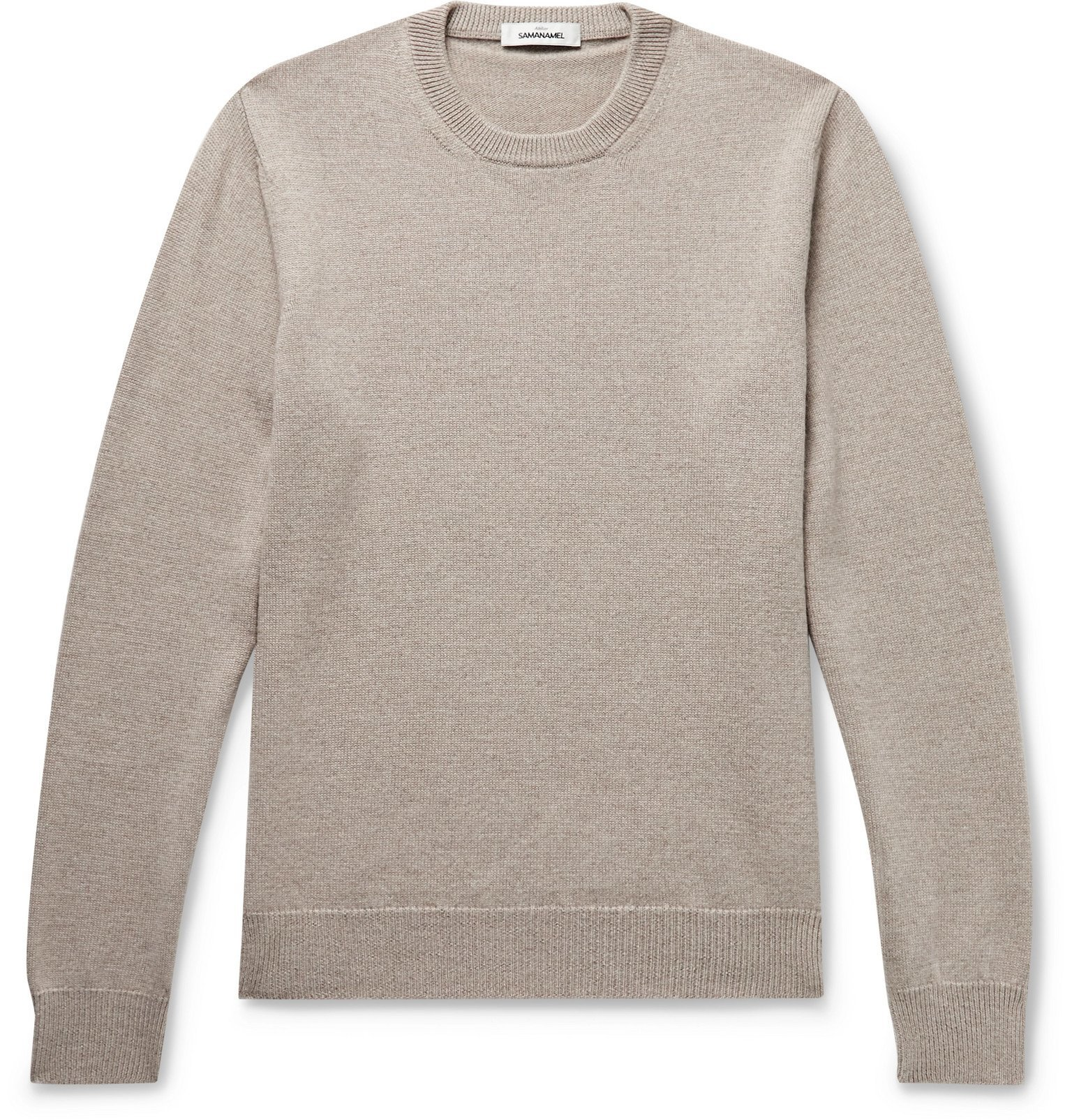 Photo: Saman Amel - Mélange Merino Wool Sweater - Neutrals