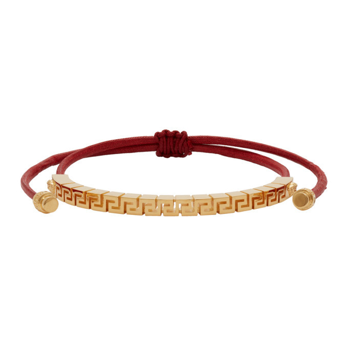 Photo: Versace Red and Gold Chain Charm Bracelet