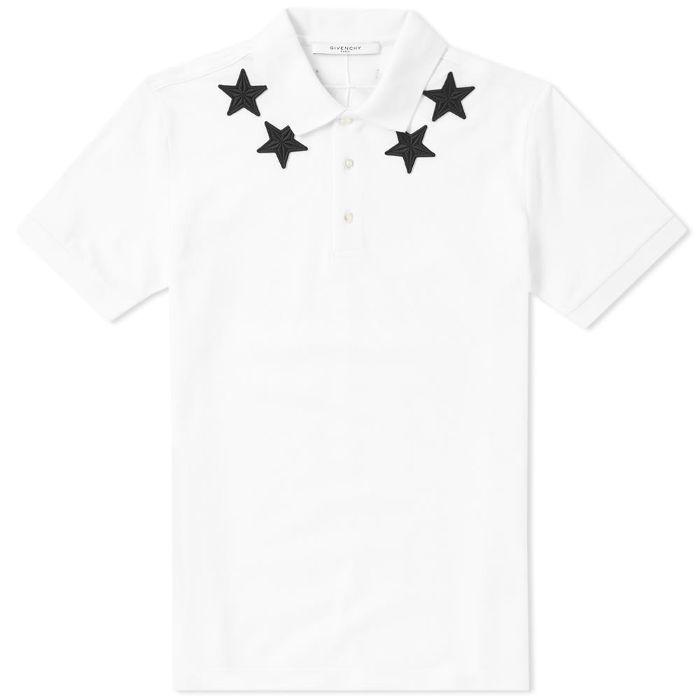 Photo: Givenchy Cuban Embroidered Star Collar Polo