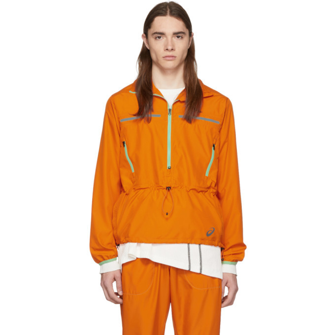 Photo: Kiko Kostadinov Orange Asics Edition Woven Jacket