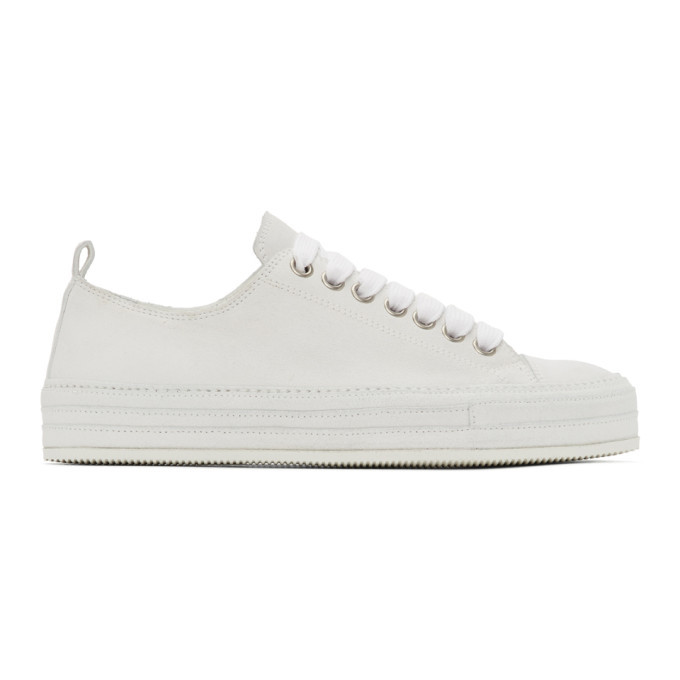 Photo: Ann Demeulemeester Off-White Nubuck Sneakers