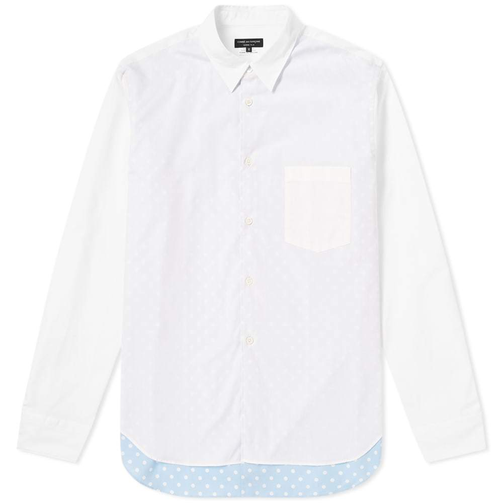 Photo: Comme des Garcons Homme Plus Layered Polka Dot Shirt White