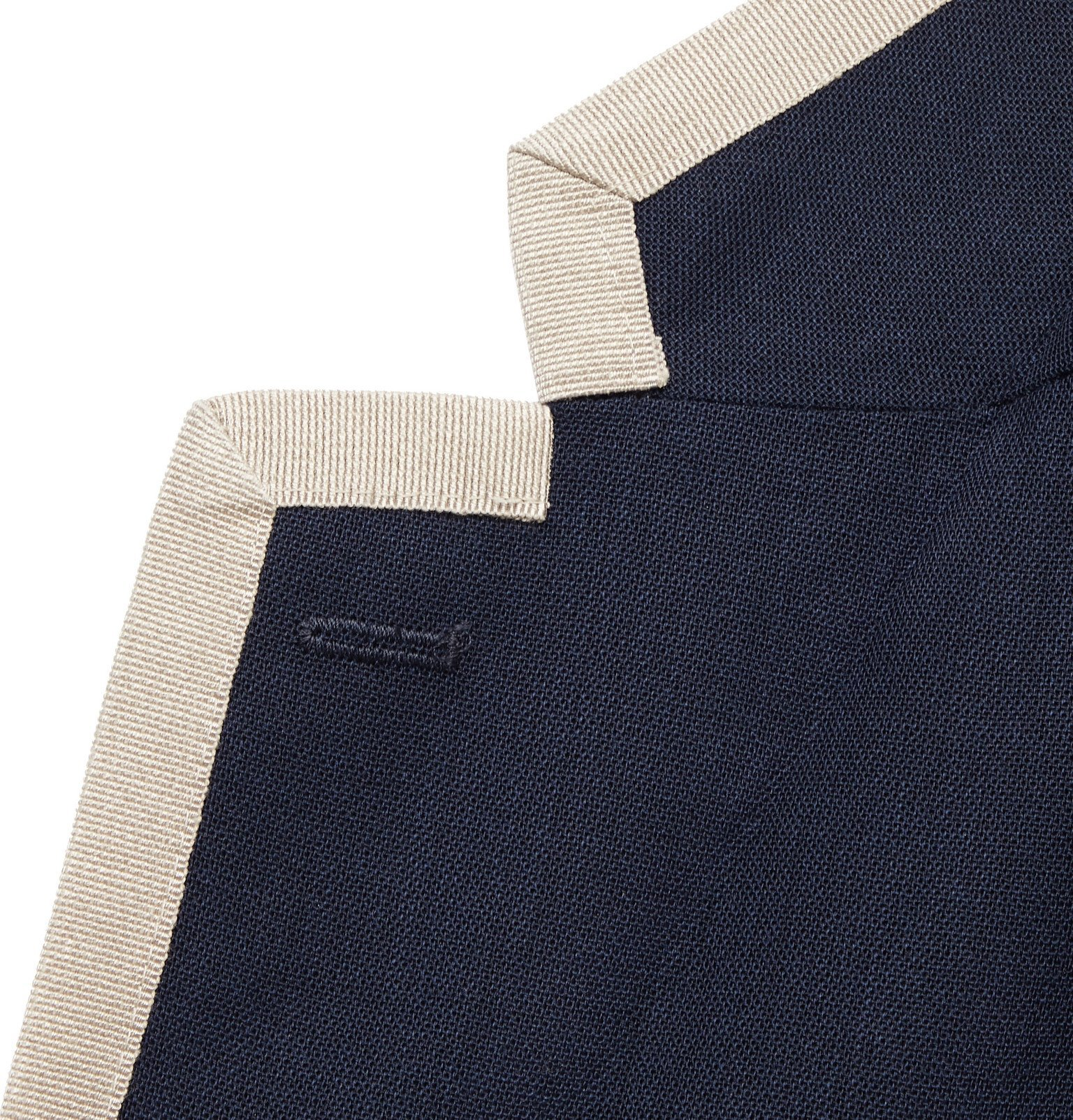 Tod's - Unstructured Contrast-Tipped Virgin Wool Blazer - Blue