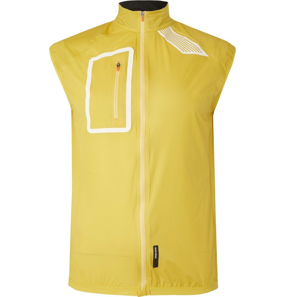 Photo: Soar Running - Waterproof Shell Gilet - Yellow