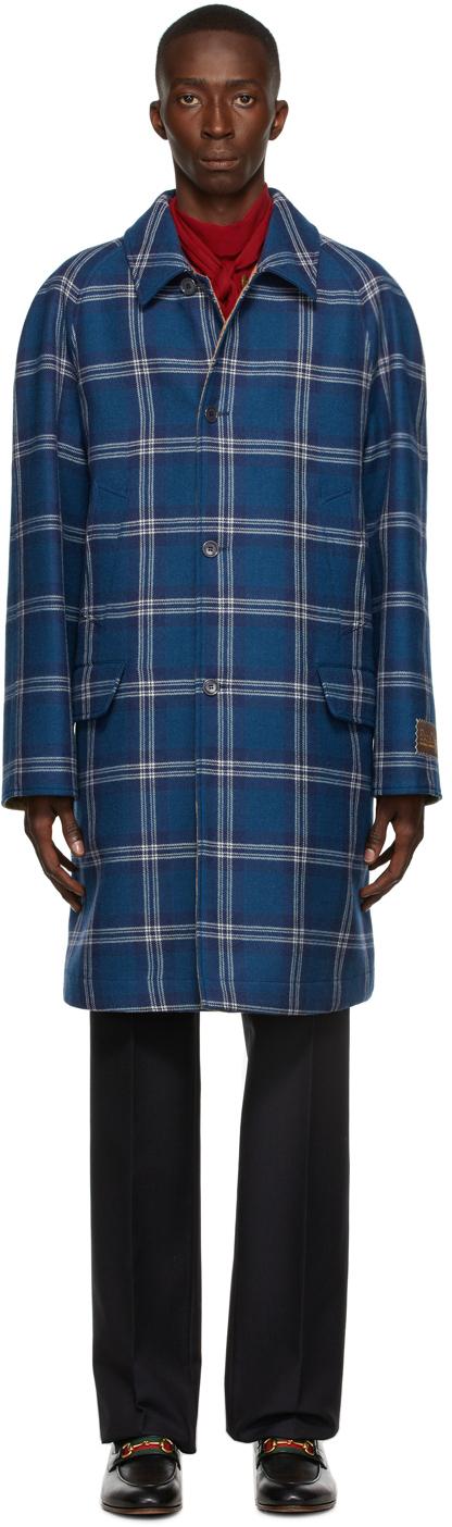 Photo: Gucci Reversible Tartan Wool Coat