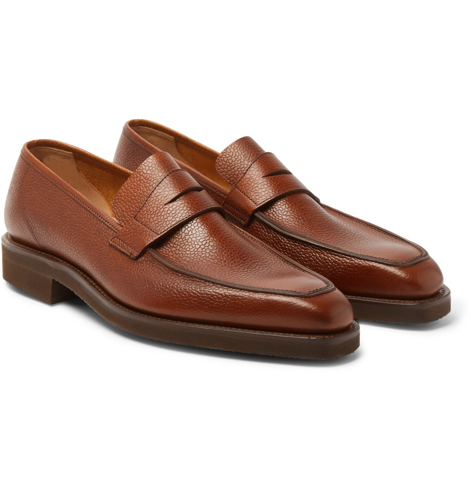 Photo: George Cleverley - George Full-Grain Leather Penny Loafers - Brown
