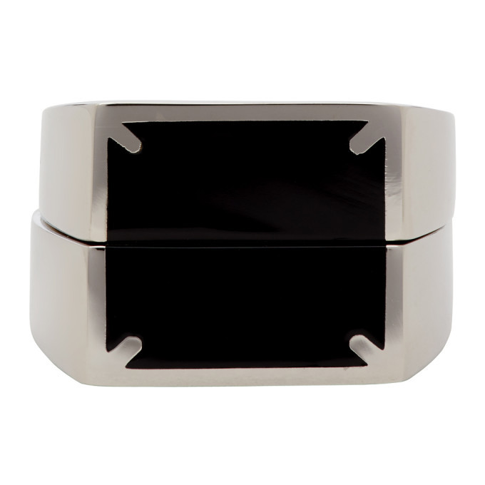 Photo: Maison Margiela Silver and Black Dual Stackable Rings