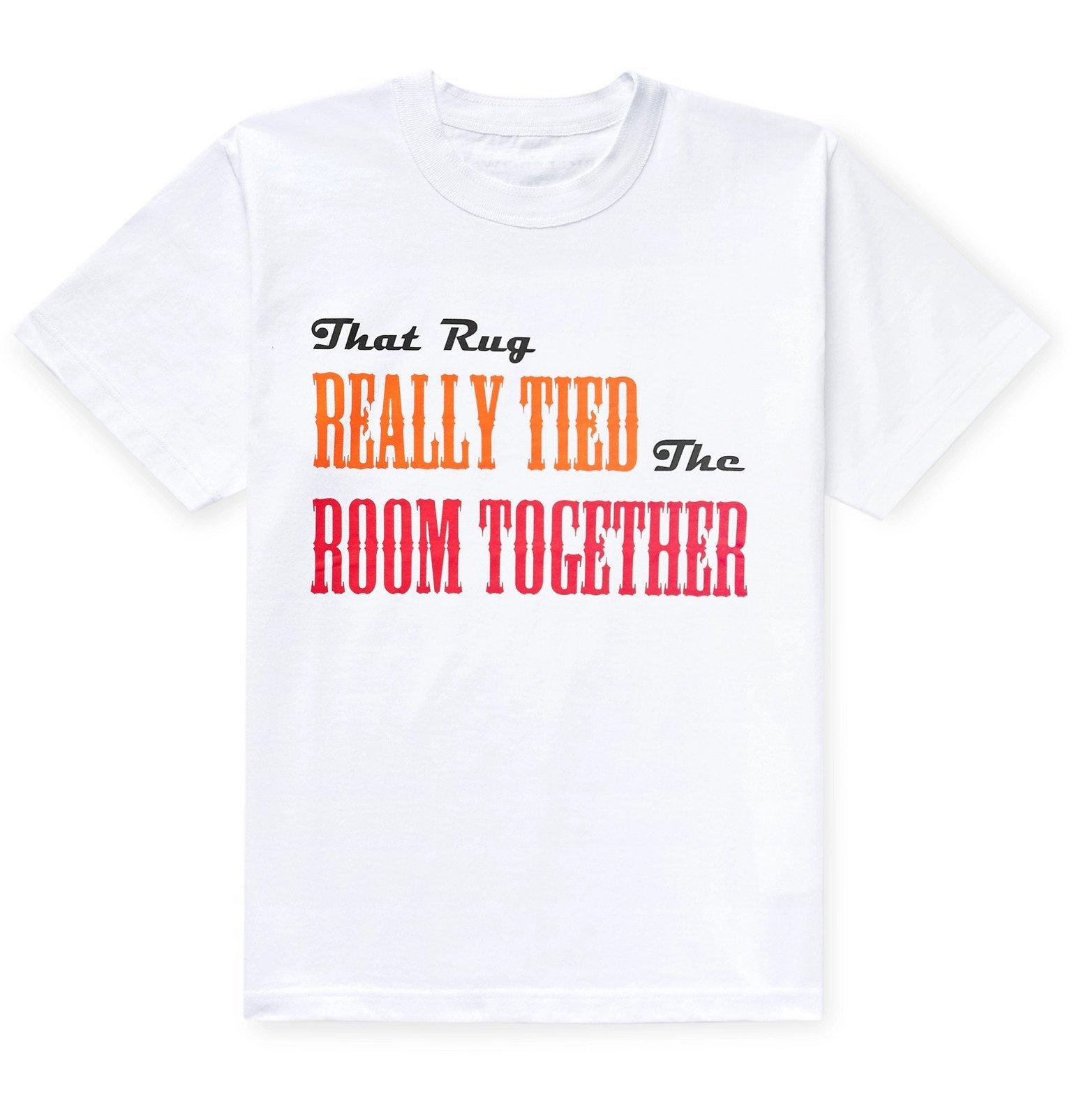 Sacai - Printed Cotton-Jersey T-Shirt - White