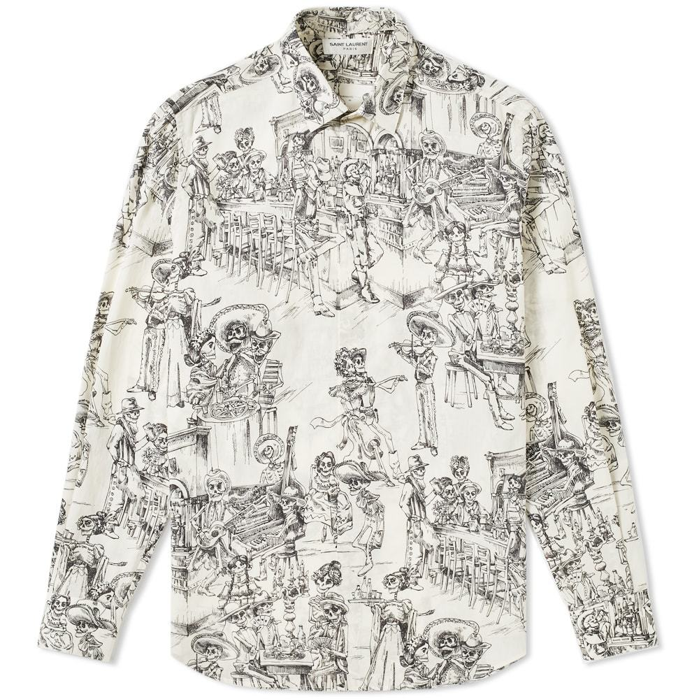Photo: Saint Laurent Day of the Dead Shirt