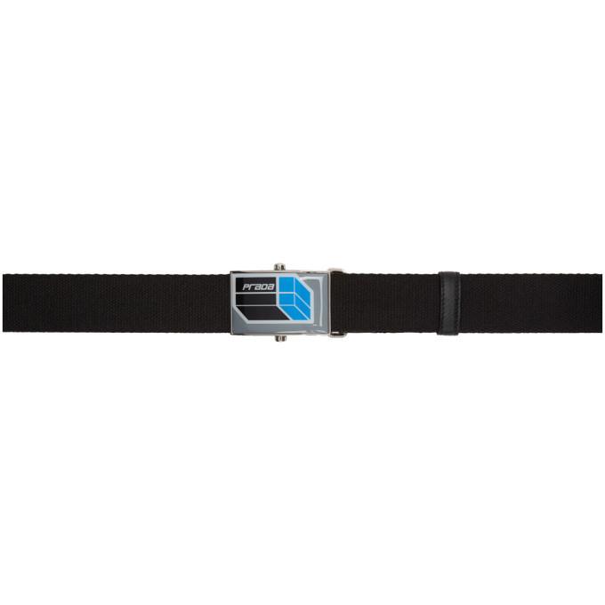 Photo: Prada Black Cube Logo Belt