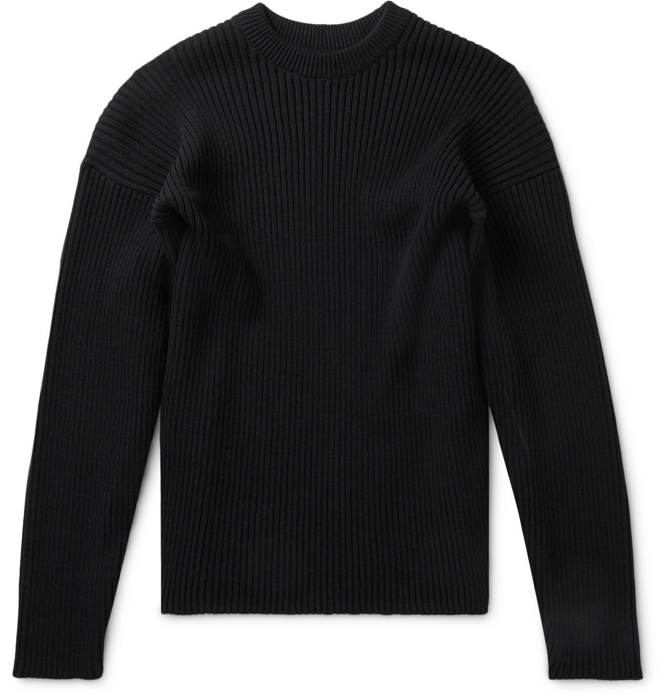 Photo: Bottega Veneta - Ribbed Wool-Blend Sweater - Black