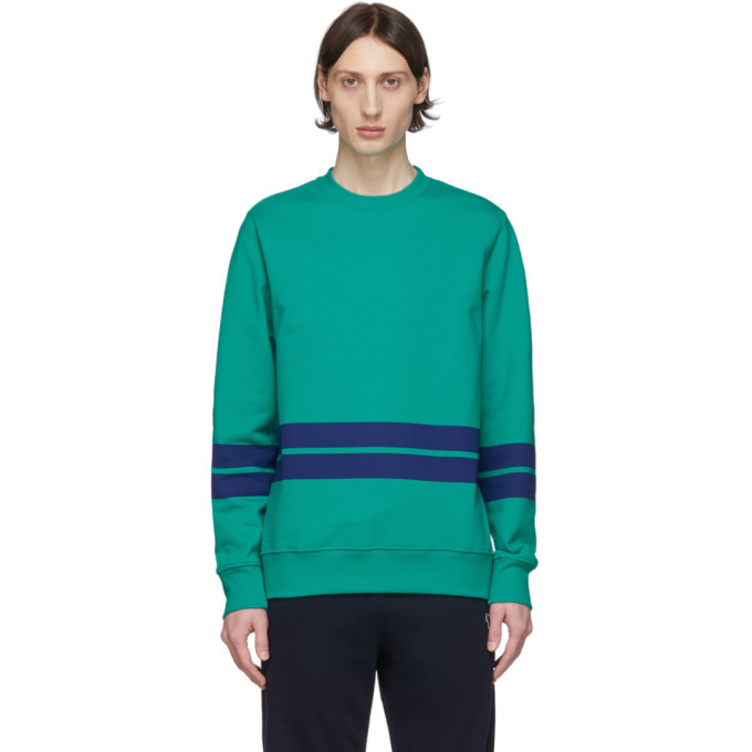 Photo: PS by Paul Smith Green and Navy Striped Sweatshirt