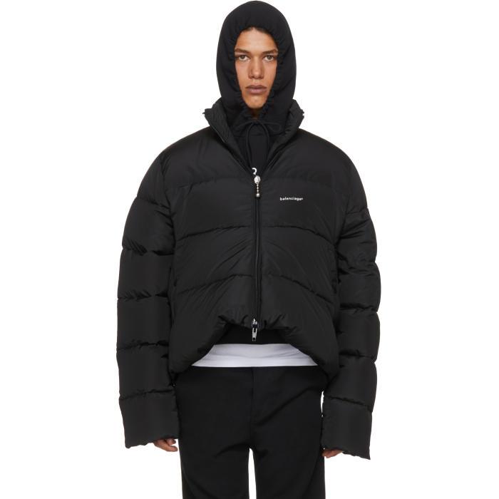 Photo: Balenciaga Black Down C-Shape Jacket