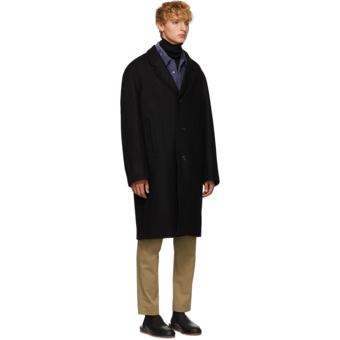 Lemaire Black Chesterfield Coat